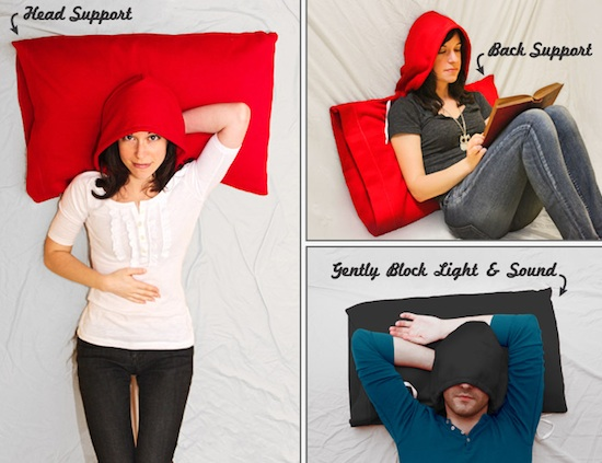 HoodiePillow takes lounging at home to a whole new level