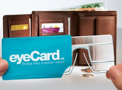 EyeCard makes reading glasses as convenient as a credit card