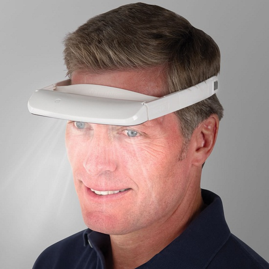 The Light Therapy Visor helps you look on the bright side of life