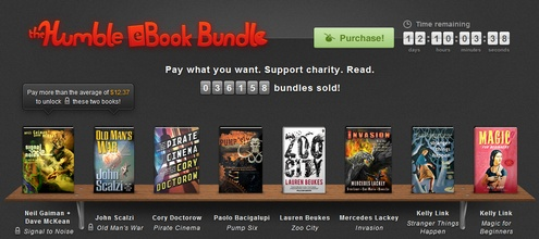 Humble eBook Bundle – six cracking SciFi ebooks, pay what you want