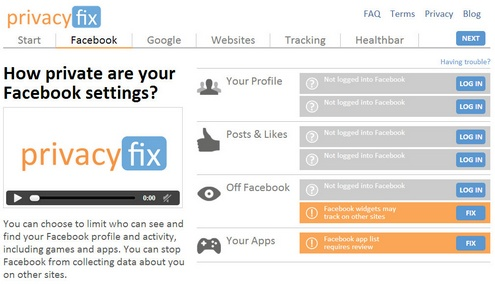 privacyfix Privacy Fix   instantly check and control your privacy settings on websites [Freeware]