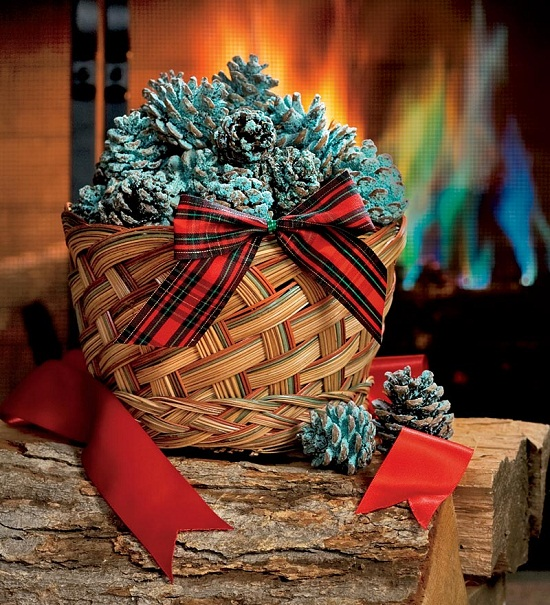 Color Cones will add a little something special to your fireplace this season