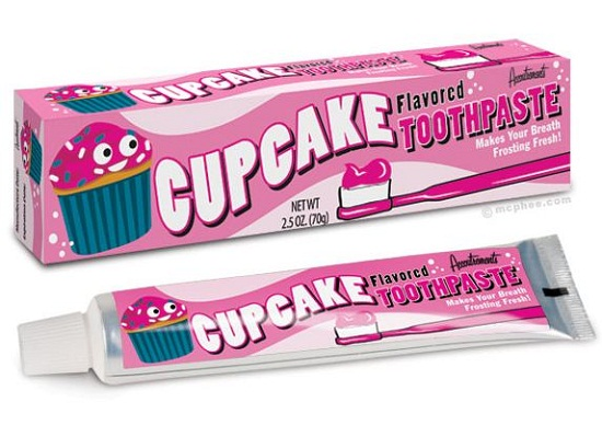 Cupcake Toothpaste will freshen your breath and satisfy your sweet tooth