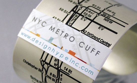 NYC Metro Cuff will help you find your way to the New Year
