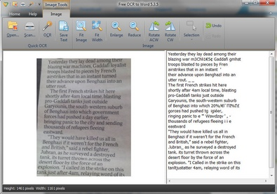 freeocrtoword2 FreeOCRtoWord   converts images to Word editable text with impressive results [Freeware]