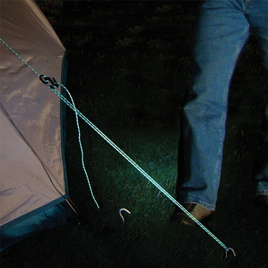Reflective Rope – because no one wants to play hide and seek with camping gear