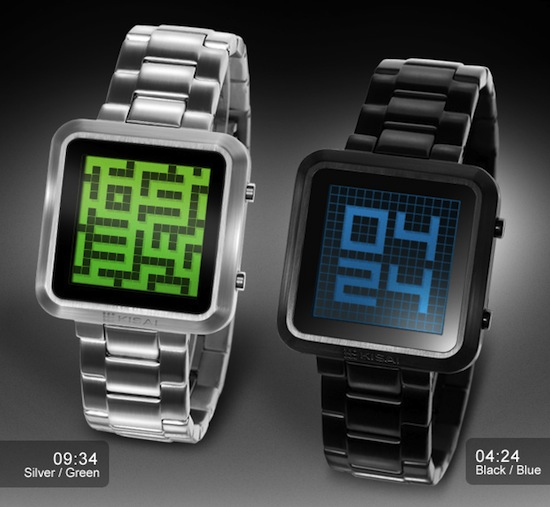 maze watch silver green and black blue pair TokyoFlash Kisai Maze (review) – Get lost in time