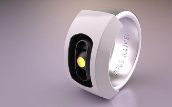 GLaDOS Ring keeps an eye on your favorite test subject