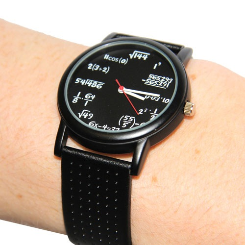 Equation Watch – Learning to tell time was never this complicated
