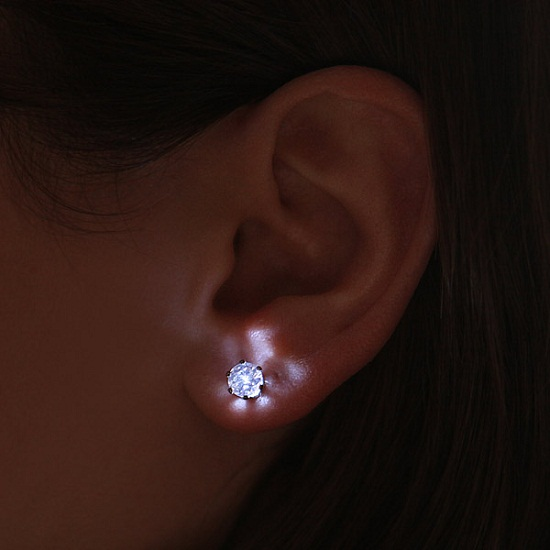 LED Crystal Earrings will light up the light of your life