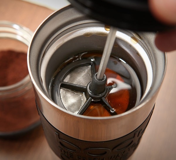 Stainless Steel French Press Mug is the ultimate all-in-one fresh coffee maker and cup