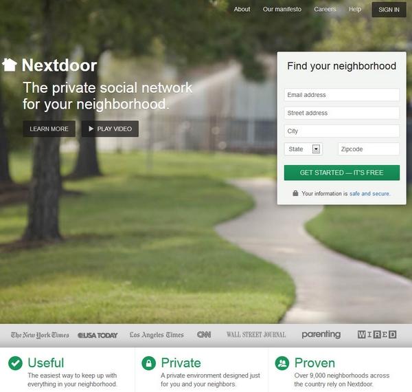 Nextdoor – the private social network for your neighborhood