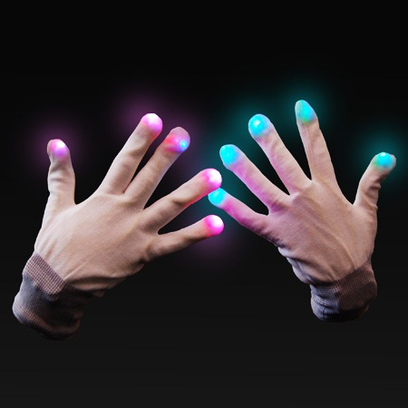 LED Gloves- You can dance if you want to