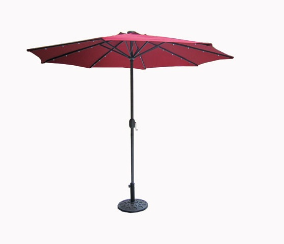 In the shade of the ole Solar-Lighted Umbrella