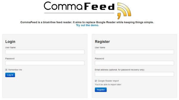 CommaFeed – cool open source Google Reader replacement is a solid option