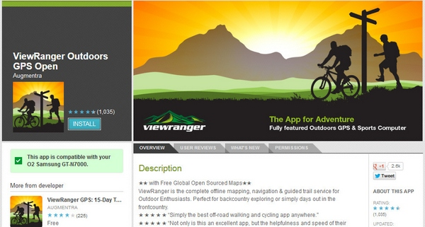 ViewRanger Outdoors GPS Open – updated off road phone app lets you navigate the world without losing track [Freeware]