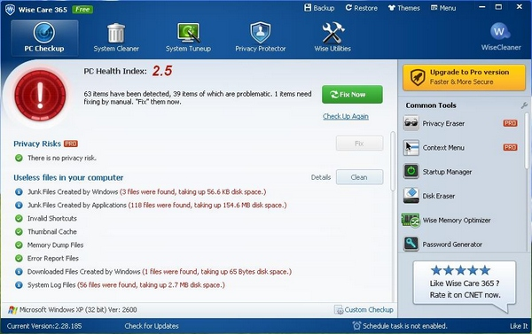 Wise Care 365 – speed up, optimize and clean your PC with this cool automated toolkit [Freeware]