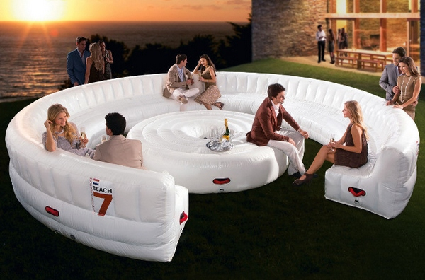 Beach7 AirLounge – instant inflatable party seating for up to 30 guests…pins not invited