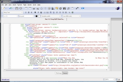 bluegriffon2 BlueGriffon   open source web editor is a great tool for both beginners and experts [Freeware]