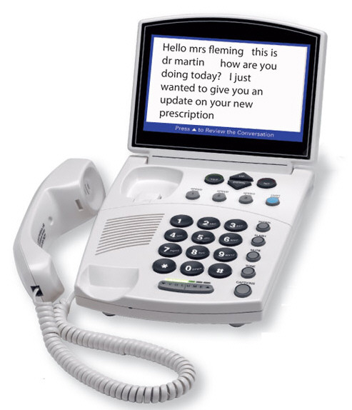 Captioned Telephone lets you see your calls as well as hear them