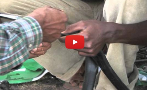 hottofixabicycletube How to Fix A Bicycle Tube Without Glue   African Style