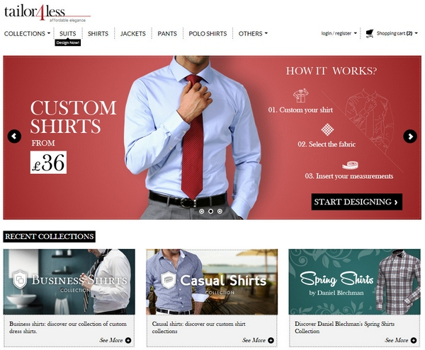 Tailor4Less – men's and ladies custom tailored clothes for people who hate shopping