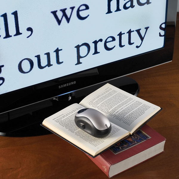 Wireless Page To TV Magnifier – the words really jump off the page!