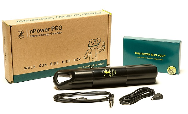 nPower PEG will charge your phone with every step you take