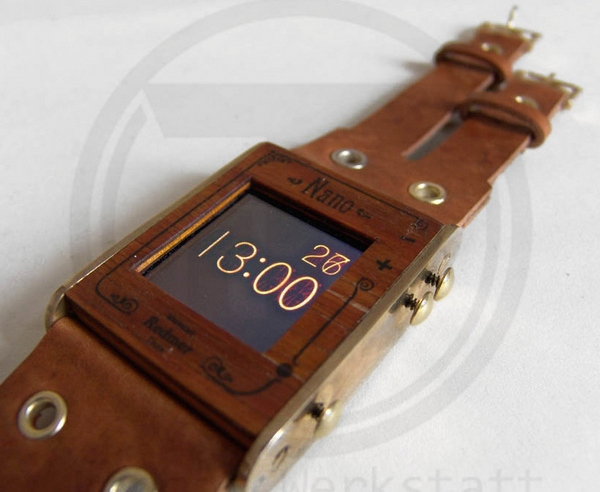 Wooden iPod Steampunk Wristwatch – there's so much more to time than mere minutes, don't you think…?