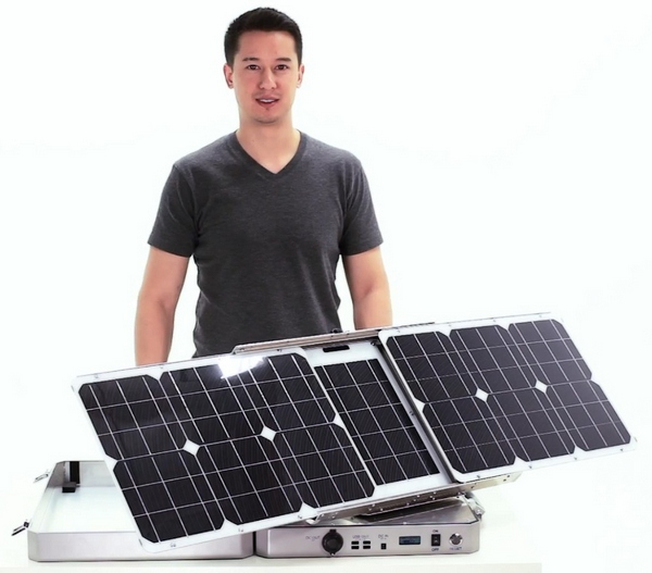 SunSocket Sun-Tracking Solar Generator – go off grid in high tech style