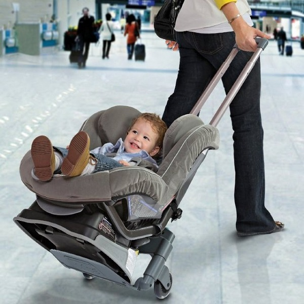 Brica Roll 'n Go Car Seat Transporter might make traveling with kids easier