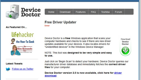 Device Doctor – free Windows program keeps your computer drivers up to date and humming [Freeware]