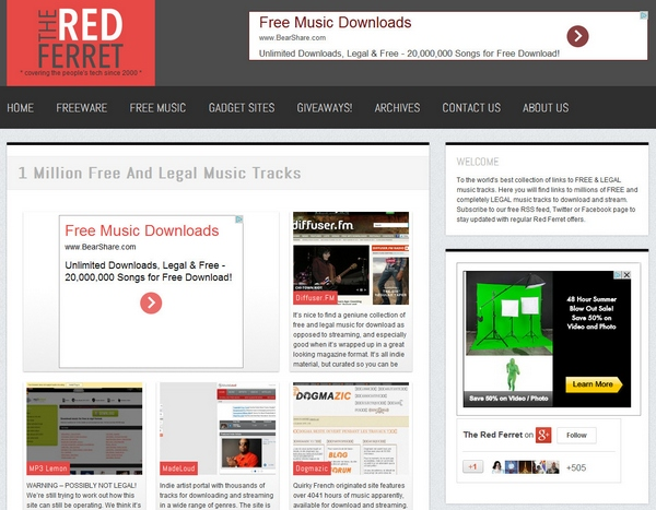 1 million free and legal music tracks – announcing the relaunch of our favorite section for y'all [Freeware]