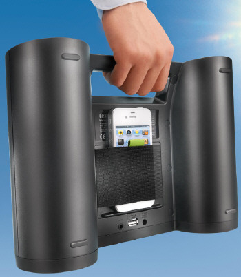 rukussolar2 Rukus Solar   sun powered loudspeaker features loud sound and an e Ink display