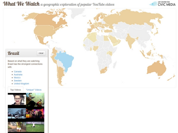 What We Watch – fascinating look at YouTube trends around the world