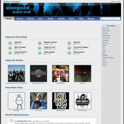 unsignedbandweb.com