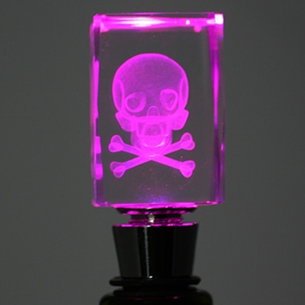 Light-Up Skull Bottle Stopper –  not just for poison anymore