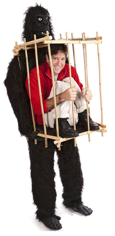 Gorilla Cage Costume – put him down, you don't know where's he's been