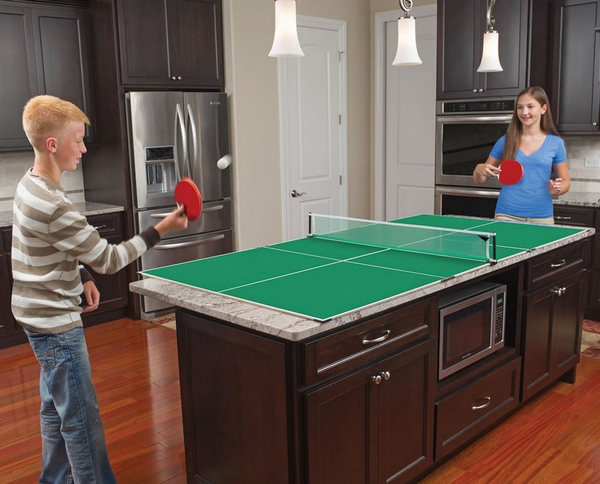 Kitchen Table Tennis – aliens have landed and the kitchen is now a play room