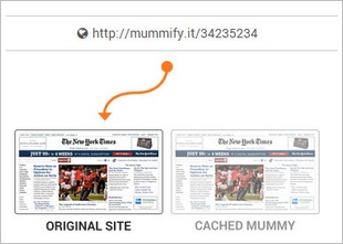 mummifyit2 1 Mummify It   make a permanent copy of anything online, for free