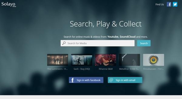 Solayo – super cool meta music search engine