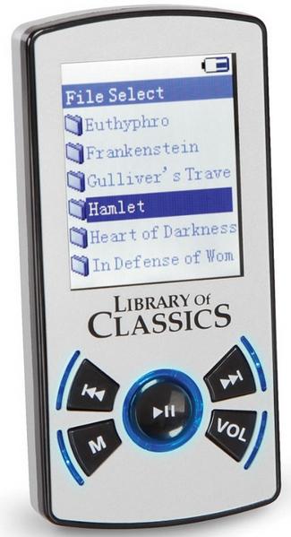 100 Book Digital Audio Library – carry around the classics wherever you go