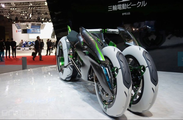 Kawasaki J Vehicle – Tron's ride breaks out of the Grid and into real life