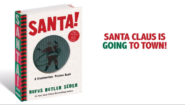 Santa Scanimation Book – Pictures of Santa come to life