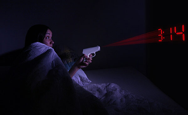 Secret Agent Projection Alarm Clock – taking aim at your morning routine