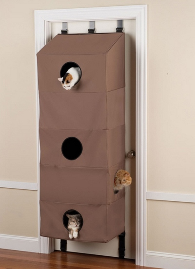Over The Door Cat Condo – high rise furry feline resort