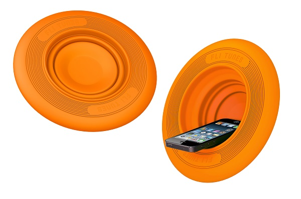 Fli-Tunes Flying Disc Amplifier – Go ahead and toss it after you listen to it