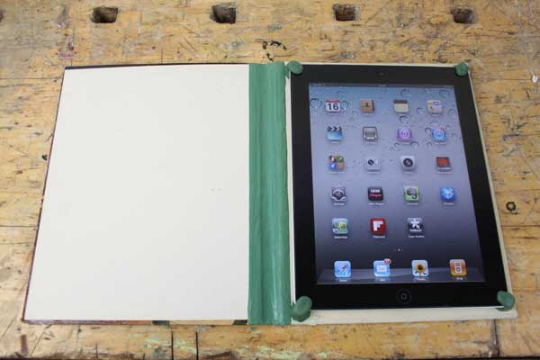 How to make an iPad cover from an old book