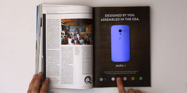 Wired Interactive Color-Changing Moto X Ad – When a print magazine borrows from the digital playbook