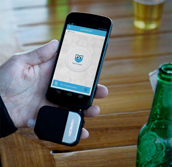 Alcohoot – transforms your smartphone into a police-grade breathalyzer